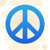 Icon showing the peace symbol